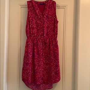 Apt 9 pink high low dress with waist tie pockets